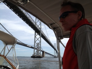 We waved farewell to Annapolis on our left and motored under the Chesapeake Bay Bridge heading north