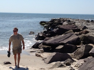 Frank at the Longport Jetty