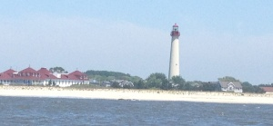 The Lighthouse at Cape May Point as we round the tip of NJ.