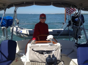 Ems first day in the Atlantic with Eleanor Q