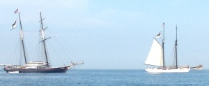 Two schooners used for youth camps. The navy one was our neighbor in the anchorage.
