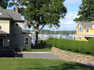 Homes with harbor views . . .
