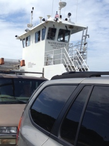 The pilot house of the ferry - on our way to Greenport.