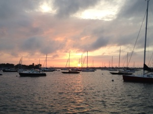 Sunset in the harbor