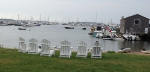 Chairs overlooking the harbor at the hotel where our friends Cori and Greg stayed and a good breakfast spot.