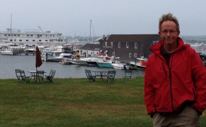 Here's a look at Block Island from ashore. Frank worked hard to get his hair to look like that!