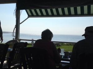 Although the Fishing Camp operates as an inn, it  is open to the public for breakfast. This was our view . . . amazing!