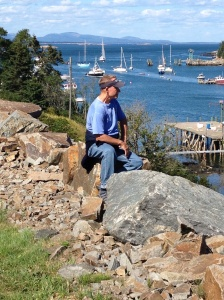 Frank looking out over the harbor