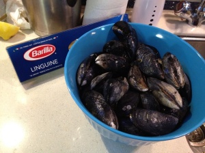 Mussels and Linguine . . . it's what's for dinner!