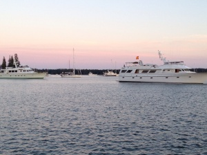 The yacht club joined us in Seal Bay . . .