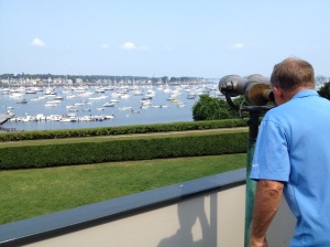 Frank looking out over the harbor.