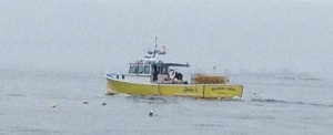 A common sight in these parts . . . lobster boats!