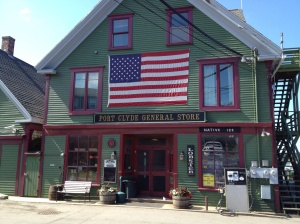 And the store front of the General Store. Very quaint place! And decent provisioning.