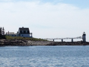 Marshall Point Light coming in to Port Clyde, Maine.