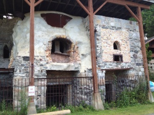 These are old lime kilns, one of the big industries in Maine in the past.