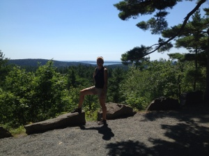 Ems conquers Mt. Everest! Well, no. But we did bike around Acadia State Park