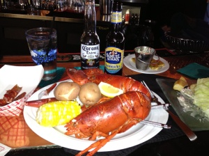 Lobster that is less expensive than beef!