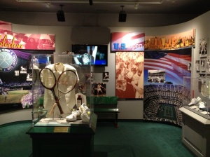 One of the displays at the Tennis Hall of Fame