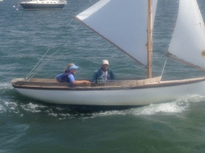 Ems' sailing lesson! What's a tiller?