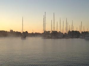 We left Solomon's Island on a misty morning.
