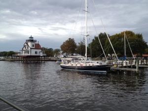 Eleanor Q parked in Edenton Harbor.