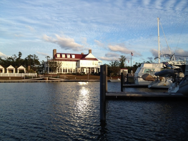 The boathouse at River Dunes