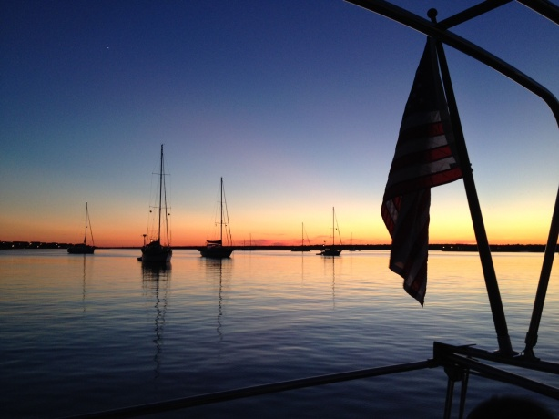 Evening in Wrightsville Beach anchorage