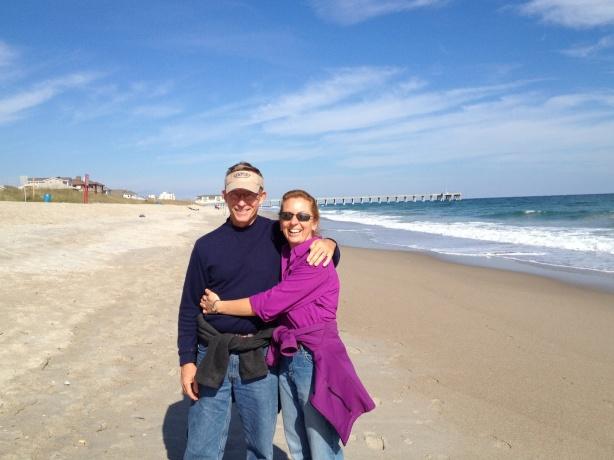 Walking the beach . . .