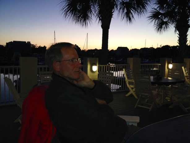 Frank enjoying the live music at sunset.