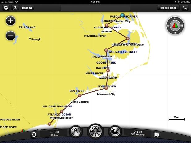 Our path through North Carolina