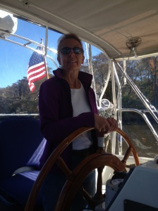 Ems at the helm in on the way to Georgetown, SC.