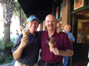 Frank and O.D. reunited and sharing their love of ice cream.