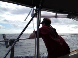 Frank enjoying the sail!