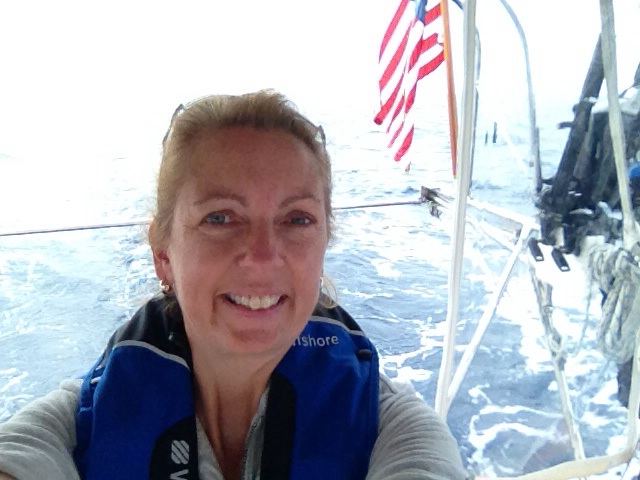 Ems on watch and feeling pretty good with Bimini in sight!