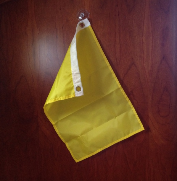 Quarantine flag at the ready.