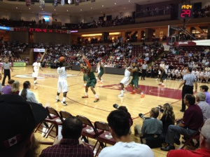 Another night they took us to a College of Charleston Basketball game against Miami (Frank's son-in-law's lama mater, so a bit of a conflict of interest for us!)