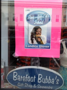 We were reminded that last season's American Idol came from Beaufort. Go Candice!