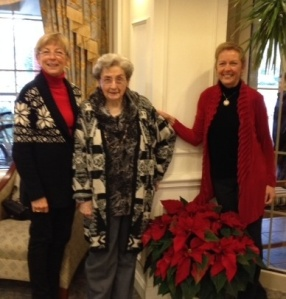 MaryMarie got to hang with Mama and sister Christine!
