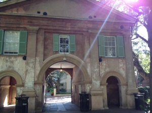 Beautiful architecture everywhere . . . walking on and around the campus of Charleston College.