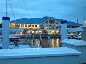 Christmas lights on the Halifax River Yacht Club