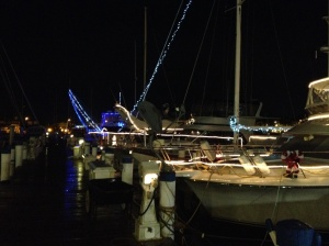 The further into December we went, the more boats we saw lit up for Christmas!