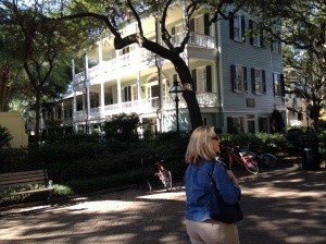 Linda showing us the sights around Charleston!