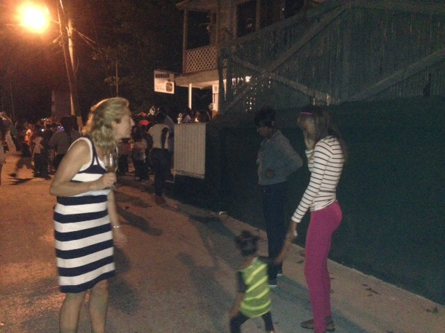 Dancing in the streets! I had a cute little dancing partner.