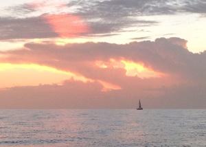 Mandala in the sunset.