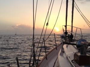 Sunrise approaching Nassau
