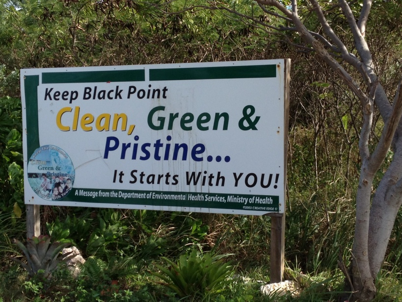 Black Point Settlement Road Sign