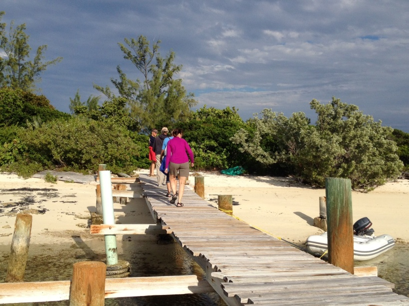 Walking around Little Farmers Cay