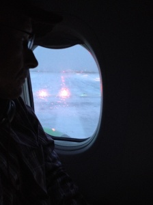 March 17th, taking off from a very snowy Philadelphia airport.