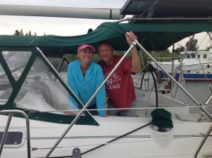 Marcia and Dan from Cutting Class - yes, retired teachers. Great boat name!!