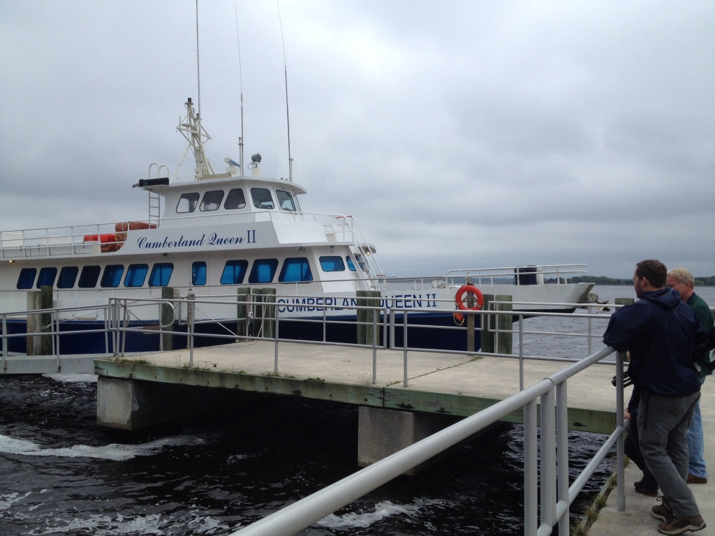 This is the ferry that brings visitors over from St. Mary's - the main means for people to visit the island. We were able to park our dinghy here.